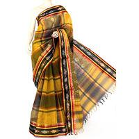 Black-Yellow Bengali Tant Saree
