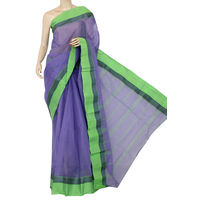 Purple Bengali Tant Saree