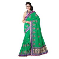 Green Chanderi Silk Designer Saree