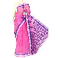 Pink Bengali Tant Saree