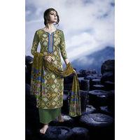 Designer Green Embroidered Satin Suit