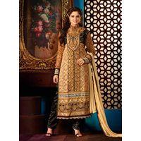 Black Straight Salwar Suit