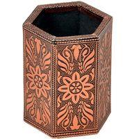 Oxidised Jaipuri Design Bronze Metal Pen Stand