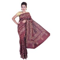 Brown Silk Saree