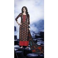 Designer Black Embroidered Satin Suit