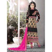 Cream Designers Salwar Suit