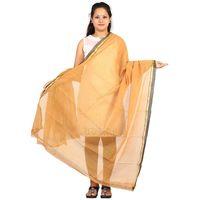 Yellow Venkatagiri Cotton Handloom Dupatta