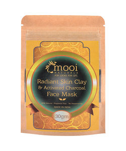 Radiant Skin Clay & Activated Charcoal Face Mask, 30g