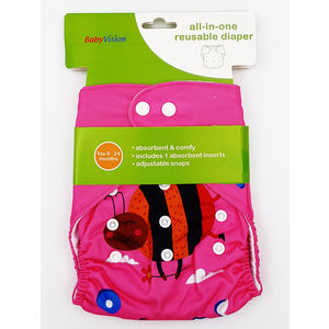 BabyVision - All In One Printed LADY-BIRD Diaper Pack, baby girl