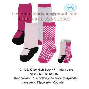 Basic Crew Sock 4 Pair - Mary JaneLuvable Friends-24122, baby girl