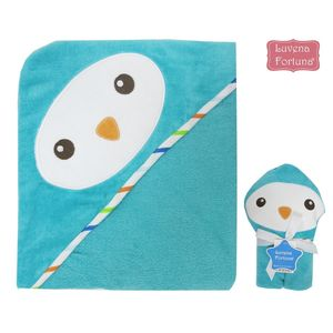 3D Super Soft Hooded Towel, baby neutral