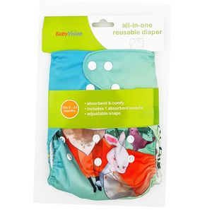 BabyVision - All In One Printed FOX Diaper Pack, baby girl