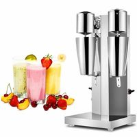 THE URBAN KITCHEN Electric Milkshake Machine Commercial Milk Foam Machine Blender Smoothie Machine Milk Tea Shop with Milk Brewing Storm Machine (double-head)