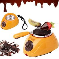 THE URBAN KITCHEN Chocolate Melting Pot- Electric Chocolate Fondue Fountain Pot with Over 30 Free Accessories and 12 Recipes