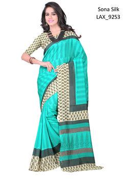 Ruhabs Sky Blue colour Sona Silk Saree