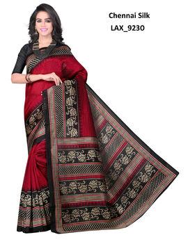 Ruhabs Dark Red colour Chennai Silk Saree