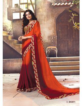 Ruhabs Orange Red colour Saree