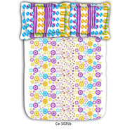 Abstract printed colorful cotton double bed sheet