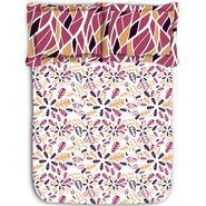 Floral leaf printed cotton double bed sheet