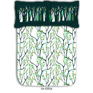 Tree printed cotton double bed sheet