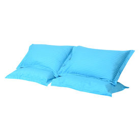 Sateen Stripes Turquoise Pillow Cover Set