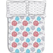 Floral printed luxury cotton bed sheet