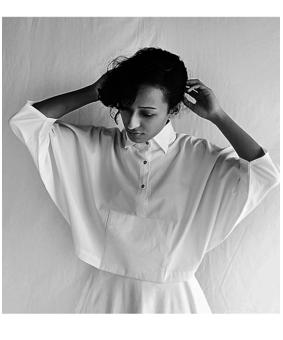 DOM Kimono Top, white, l
