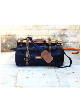 Brandless Indigenous Duffel, blue