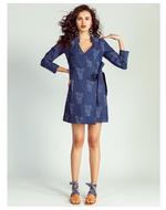 Jodi Olifant Wrap Dress, blue, s