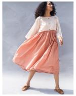 Twofold Peach Dress, orange, s