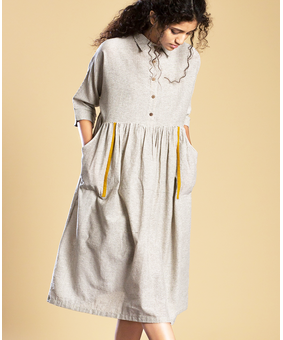Mati Shirt Dress Aakar, grey, m