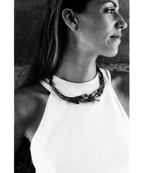 MD Sirena Collar Necklace, silver