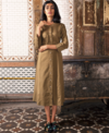 TRC Khaki Button Down Dress