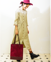 Cord Cherry Shopping Tote