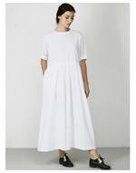 Three Dotted Yoke Dress, white, s
