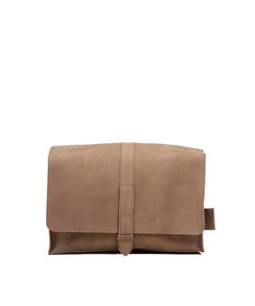 Brandless Postman Bag, beige