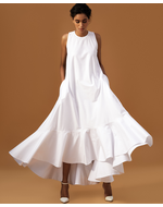 Bennch White Maxi Dress, white, s