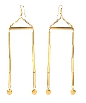 Micare Tube Earrings, gold