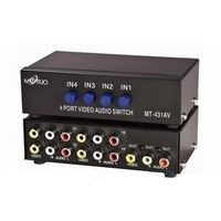 Linkwell Premium Quality Audio+ Composite Video AV Switcher 4 Input 1 Output