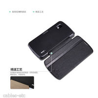 Nillkin Fresh Leather Flip Diary Cover Case Stand For LG Nexus 4 E960 - Black