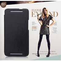 KLD Italian Leather Royal Flip Diary Smart Cover Case For HTC ONE M7 - Black