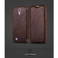 KLD Oscar 2 Royal Leather Flip Cover Case For Samsung Galaxy S4 i9500 - Brown