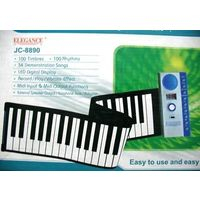49 Keys Portable Roll-Up Piano Keyboard wid MIDI IN OUT