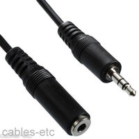 Premium Stereo Audio Extension Cable 3.5mm Male to 3.5mm Female Mp3 Car - 1.5m