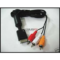 Composite AV CVBS Audio Video Cable For Sony PlayStation 3 2 PS3 PS2