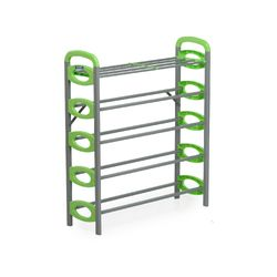 Redley Iron Shoe Rack - 5 Layer,  green