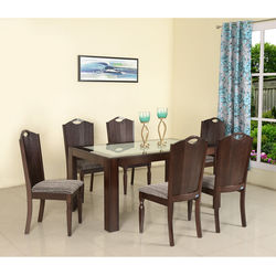 Wesley 6Str Dining Table,  expresso