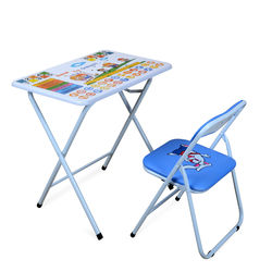 Joy Kids Study Table Set White,  blue