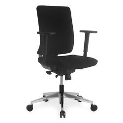Charles Mid Back Office Chair,  black