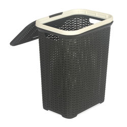 Laundry Basket 50L,  season rust brown